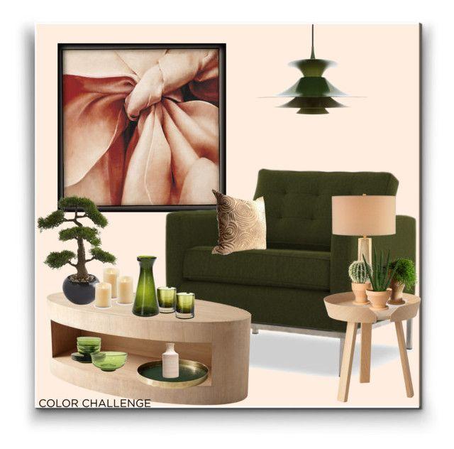 """Color Challenge"" by marionmeyer on Polyvore featuring interior, interiors, interior design, Zuhause, home decor, interior decorating, Frontgate, Joybird, Sunpan und Muuto"