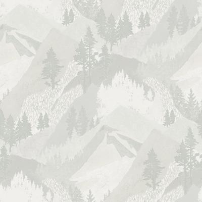 Chesapeake Range Light Grey Mountains Light Grey Wallpaper Sample-3118-12633SAM - The Home Depot