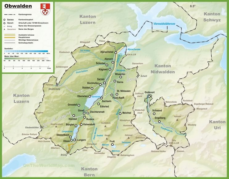 Canton of Obwalden map with cities and towns | Maps | Pinterest ...