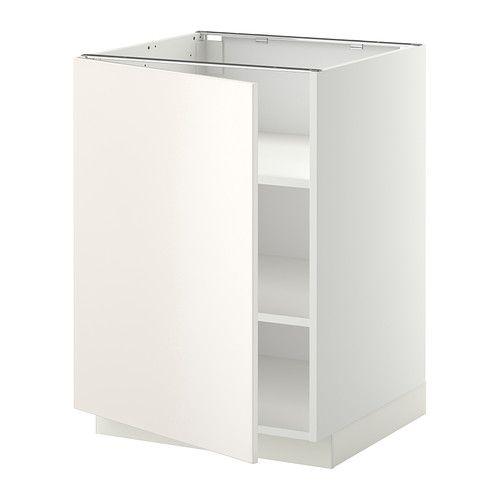 METOD Unterschrank mit Böden - Veddinge weiß, weiß, 60x60 cm - IKEA