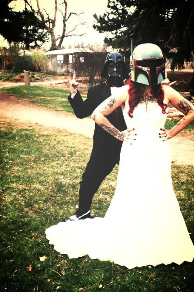 Homemade Geek Wedding Dress