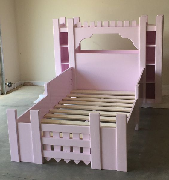Build a castle bed twin size free and easy diy project for Princess bed blueprints