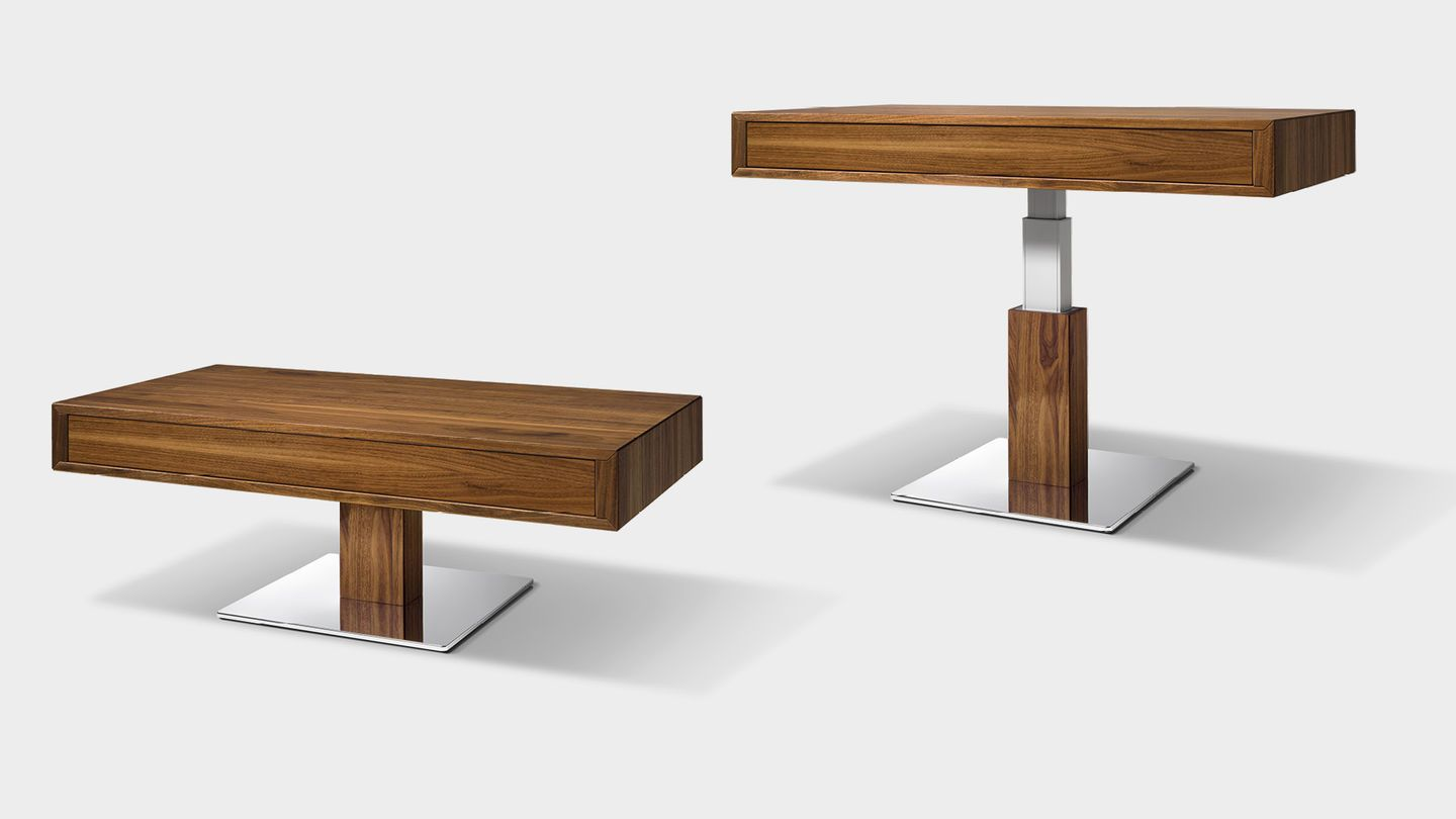 Lift Height Adjustable Coffee Table In Walnut Adjustable Coffee Table Coffee Table Height Coffee Table [ 810 x 1440 Pixel ]