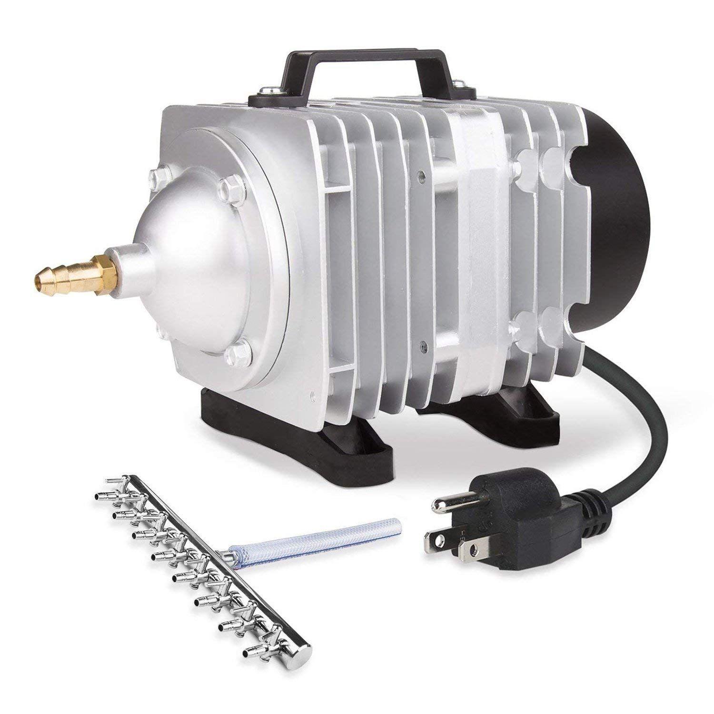 VIVOSUN Air Pump 1110 GPH 8 Outlet 50W 70L/min Commercial