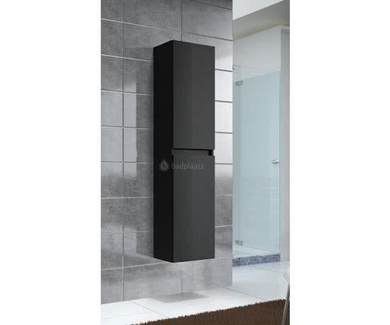 Badkamerkast Grijs Eiken : Badplaats badkamerkast avellino 400x300x1700mm zwart grote kast