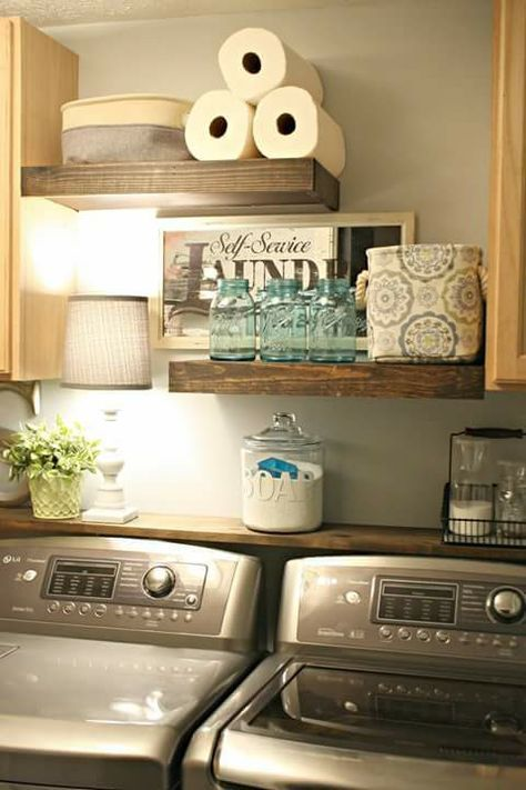Thrifty Decor S Diy Shelves It Is On Her Blog Laundry