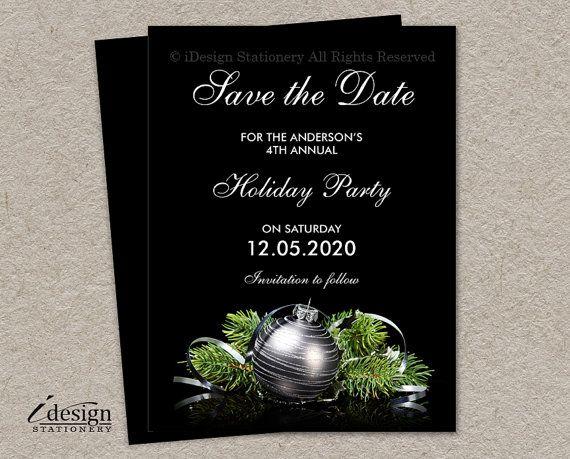 Christmas Save The Date Graphics.Elegant Diy Printable Christmas And Holiday Party Save The