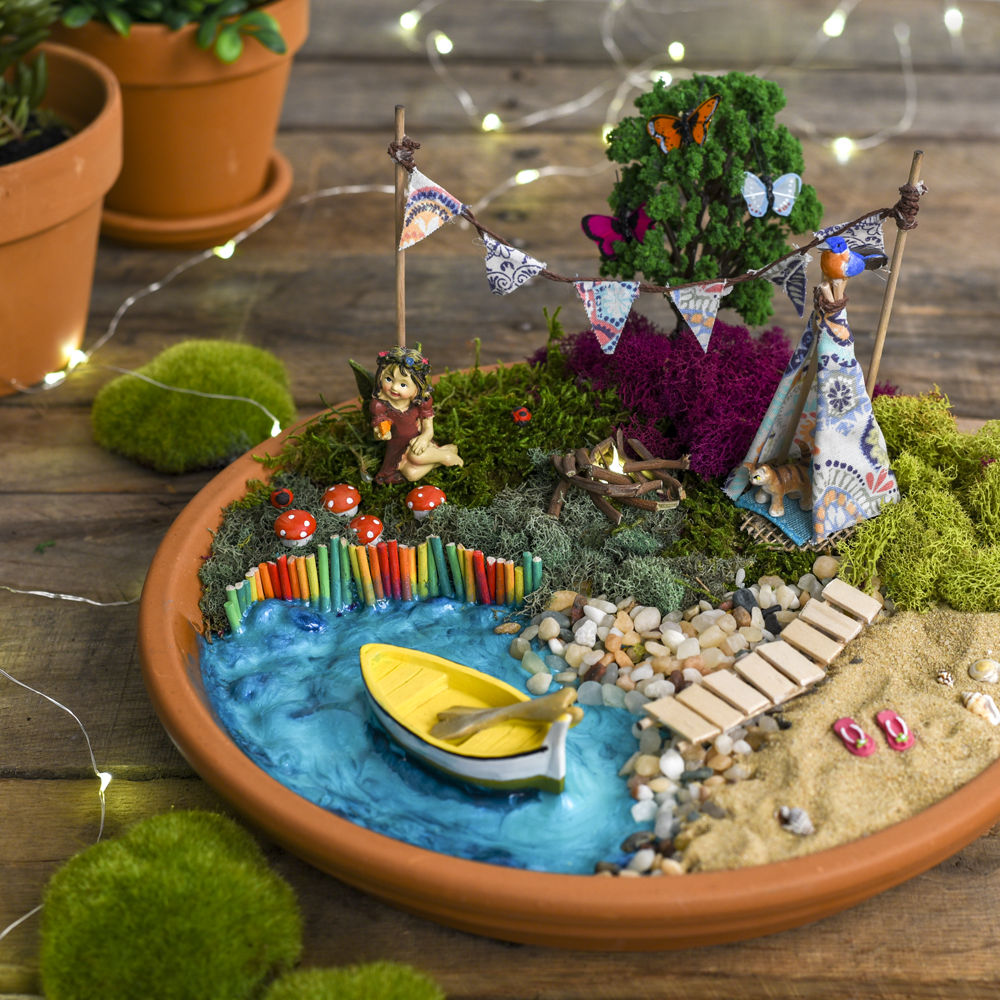 Fairy Garden Vacation Destination Inspo Because Even Fairies Need To Get Away From It All Kids Fairy Garden Fairy Garden Miniature Fairy Garden Diy