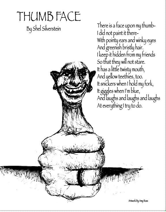 Thumb Face   Shel Silverstein   Pinterest   Shel silverstein poems ...