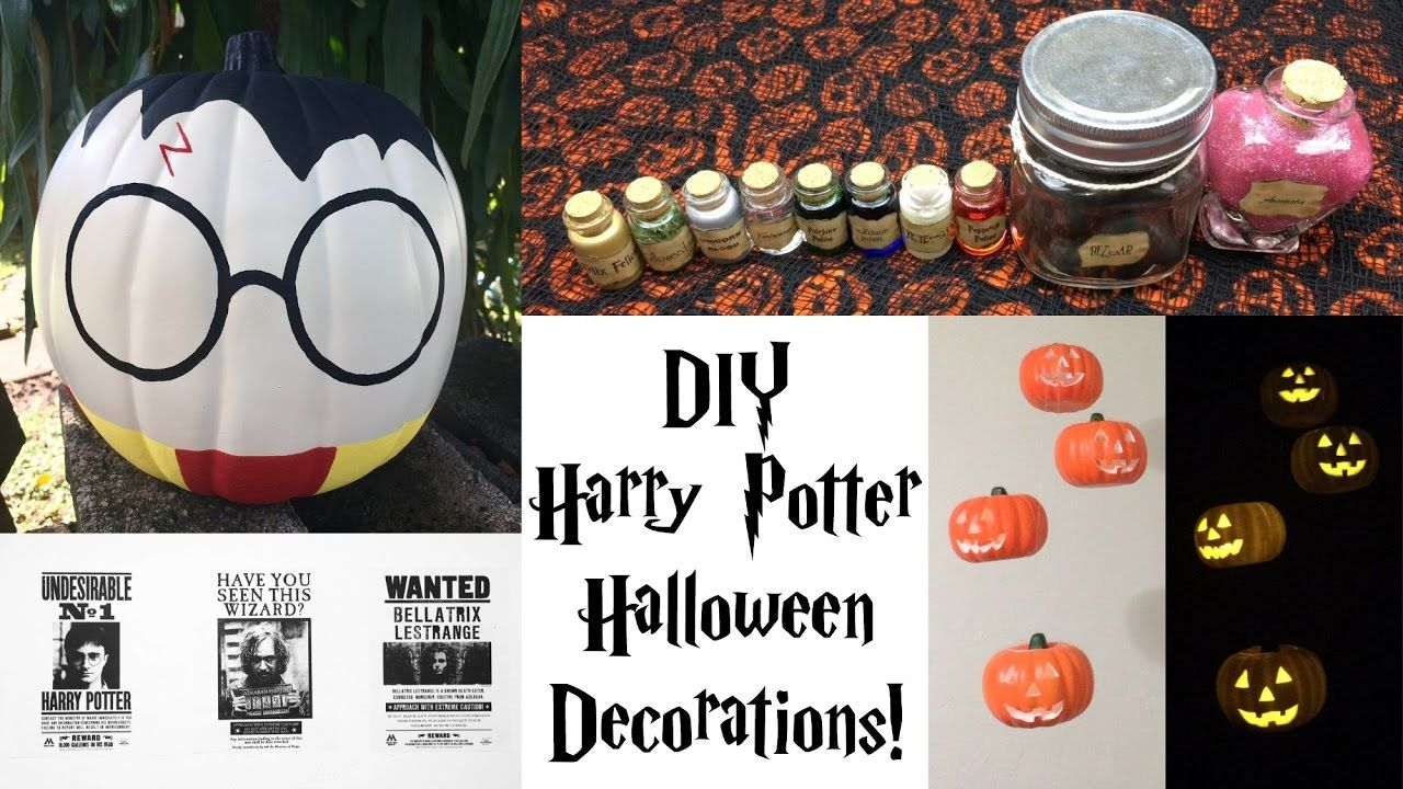 DIY Harry Potter Halloween Decorations Potions Hanging