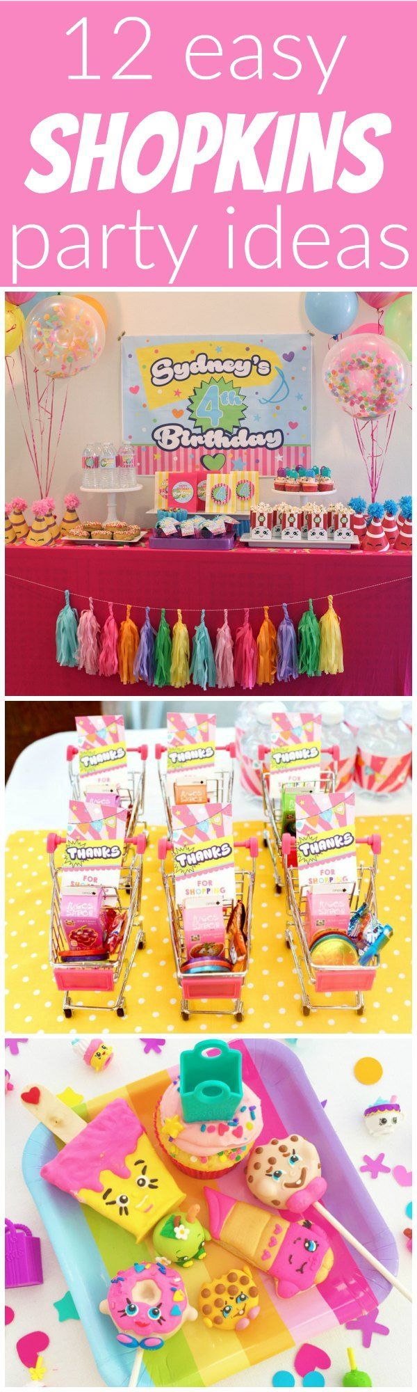 12 Easy Shopkins Party Ideas Parties Showers Pinterest