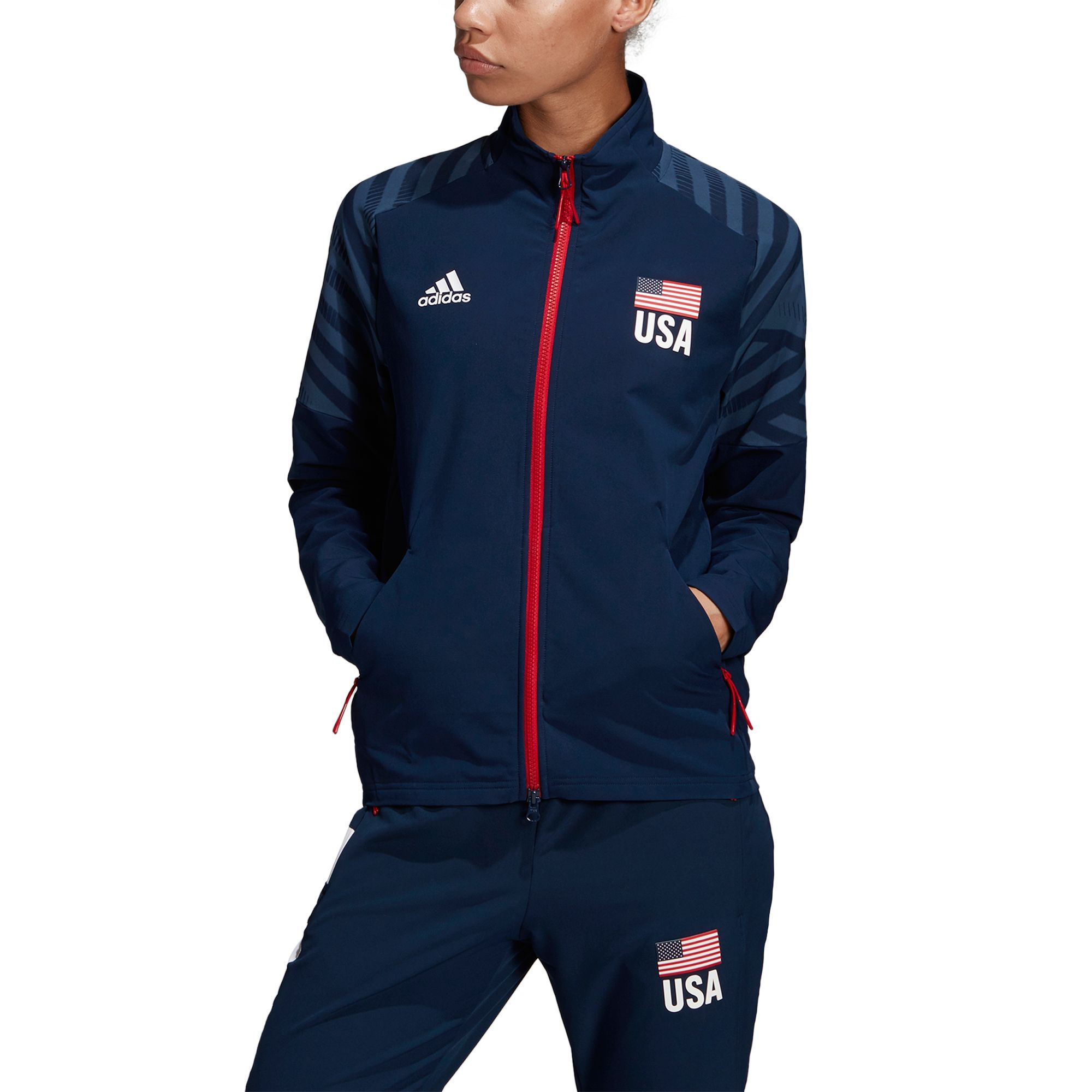 ecd12e1e3c8a Adidas Women's USA Volleyball Warm-Up Jacket in 2019 | Products ...
