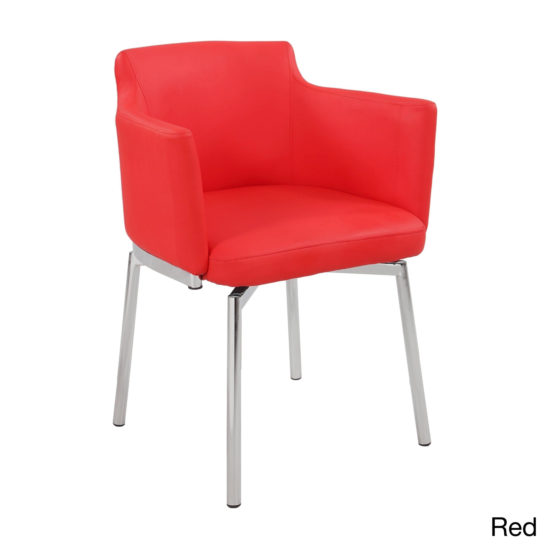 Somette Club Style Modern Swivel Arm Chair (Set of 2