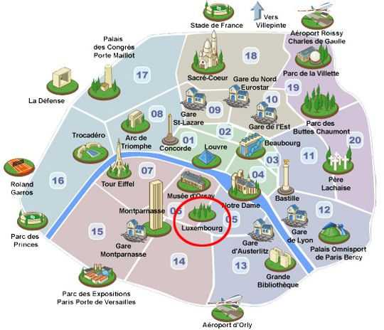 puppet luxembourg map of paris landmarks easy make a maze