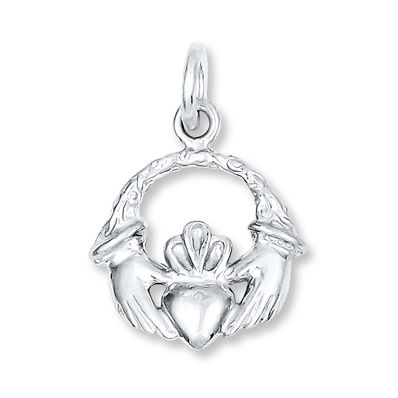 Petite Claddagh Charm Sterling Silver