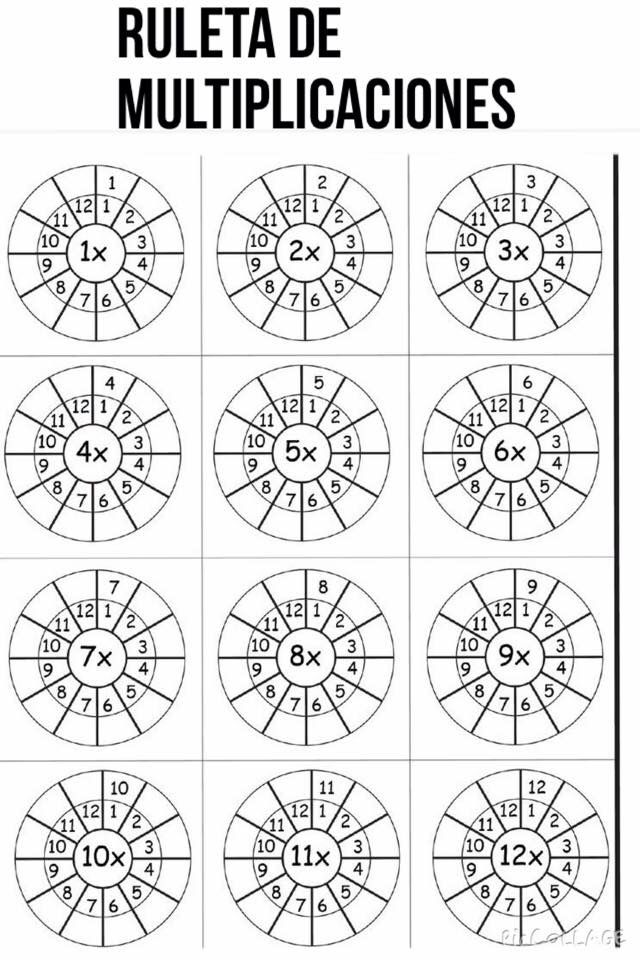 Ruleta | Multiplicar | Pinterest | Mathe