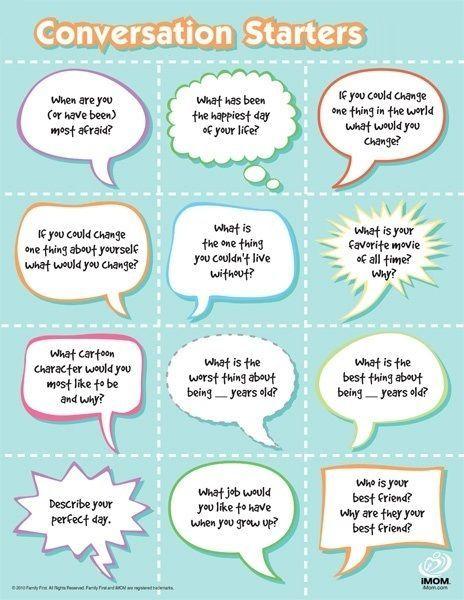 Ice breaker conversations