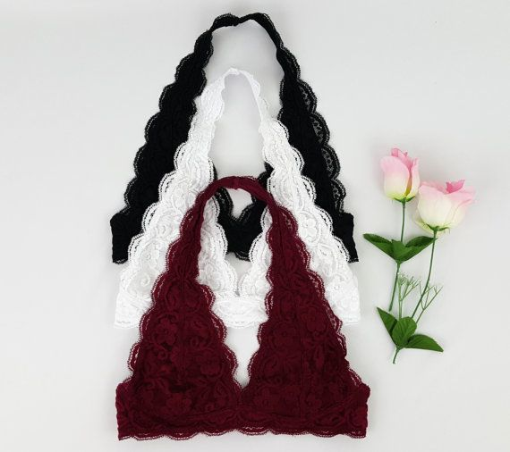 ♥♥FREE SHIPPING on US orders over $25 witth coupon code - FREESH♥♥  Scalloped Halter Lace Bralette  Stretchy, comfortable, and soft material. S, M, L sizes. Multi colors. Floral pattern lace. Lined. Hand wash and lay flat dry. Adjustable hook and eye closure. Halter behind the neck style bra.   ♥♥All order ships out within 1 business day.♥♥   ♥♥Discount and Promotion♥♥ Limited time only!! Spend USD$20 and save 10% with coupon code 10NEWSEASON Spend USD$35 and save 15% with coupon code…