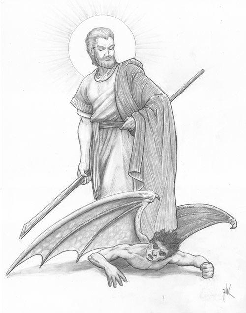 St. Joseph, Terror of Demons by Deacon Lawrence Klimecki | Saint joseph art, Jesus mary and joseph, Catholic images