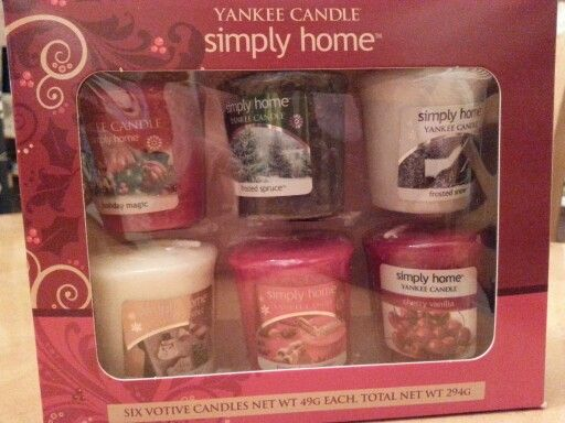 Yankee Candle Simply Home Cute Set From Amanda Birthday Gift