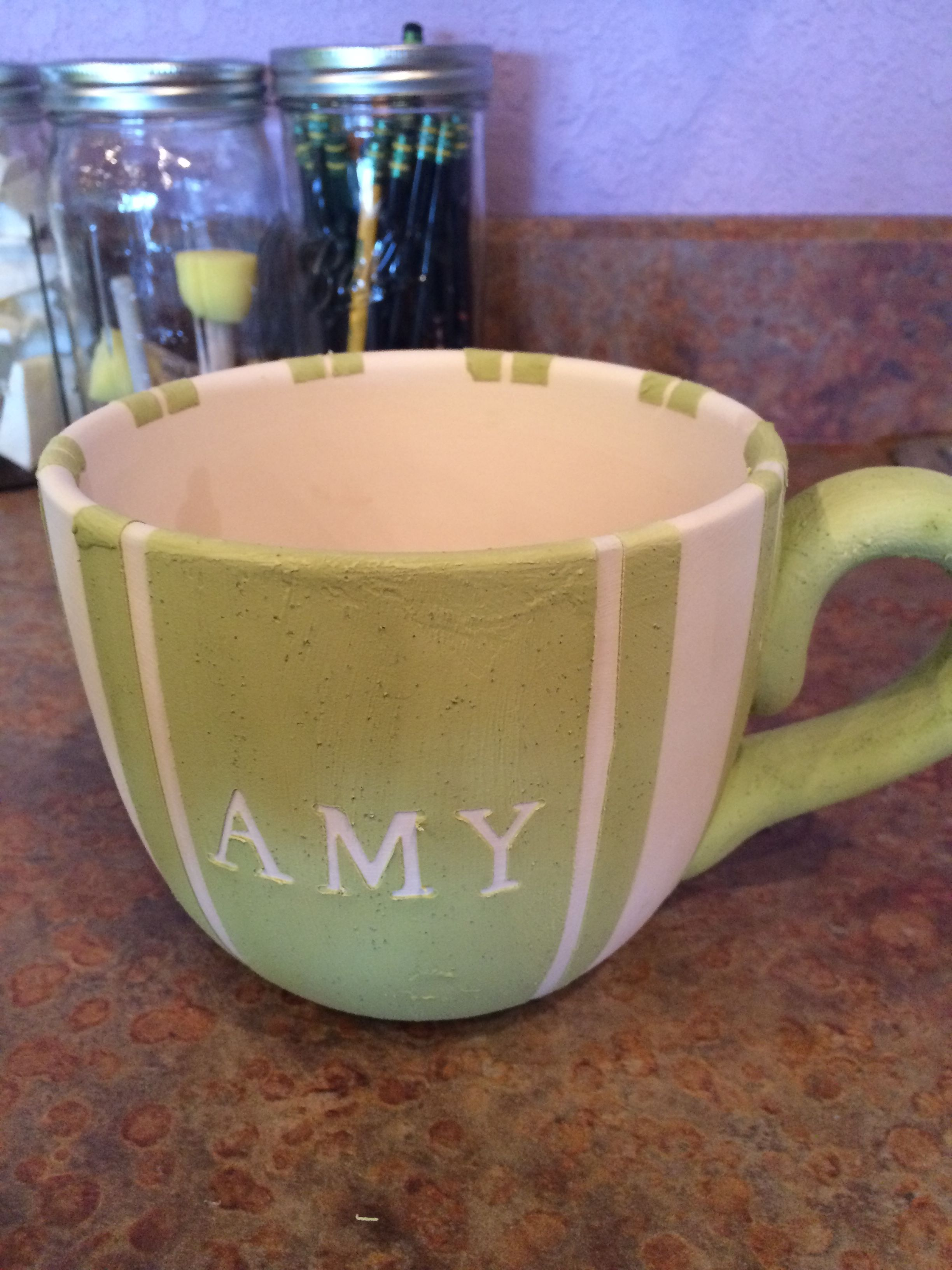 Coffee mug, Ceramic, Pottery, Paint your own, Design, Personalize, Gift