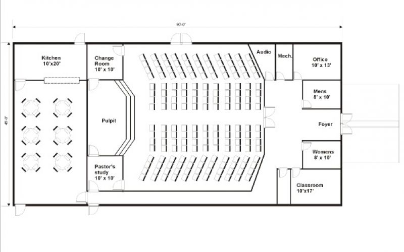 Church Building Floor Plans Gen Steel Floor Plan 3