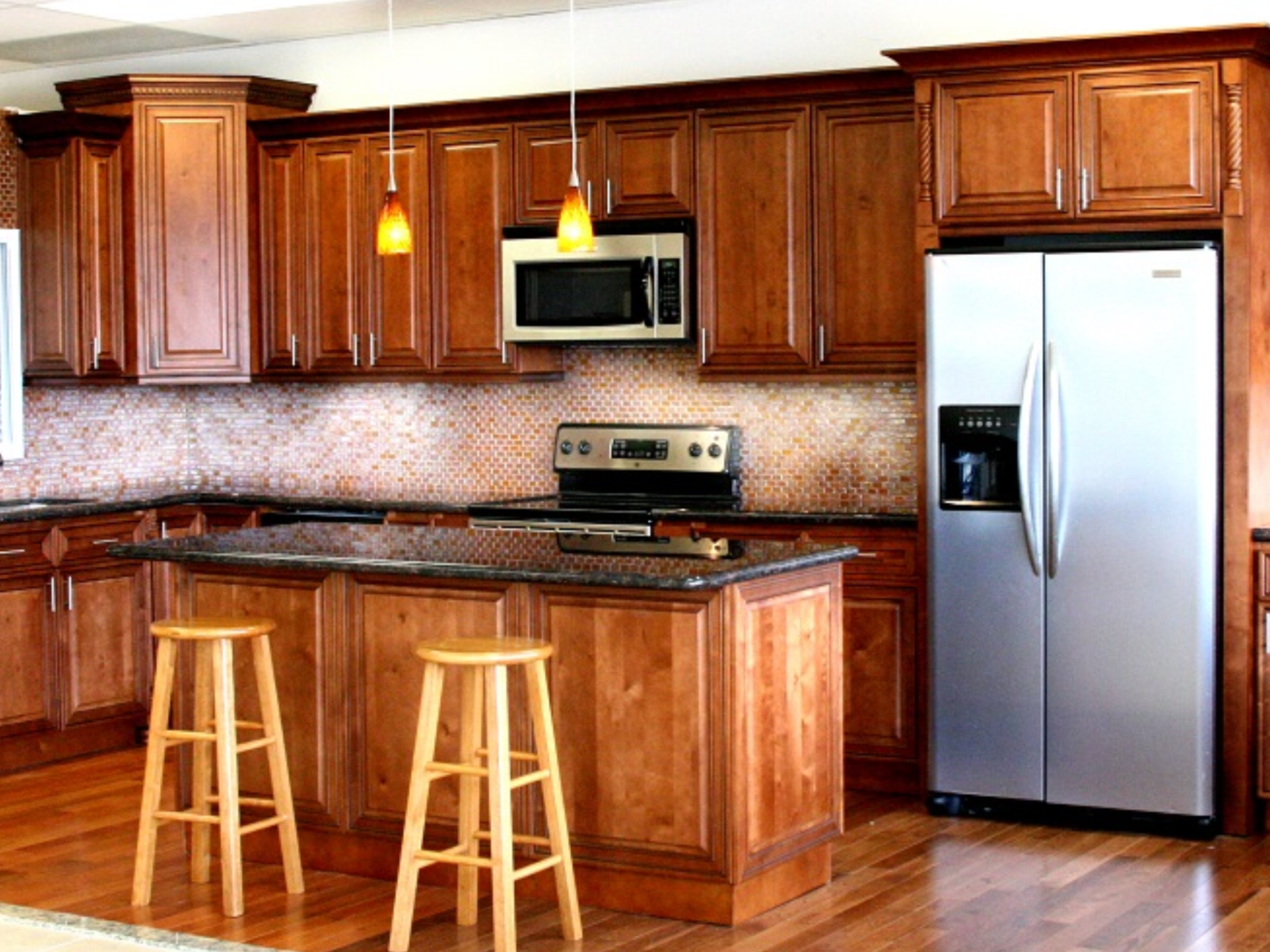 Pin By Abc Kitchens On Cinnamon Maple Cabinets Kitchen Set Cabinet Kitchen Cabinets For Sale Online Kitchen Cabinets
