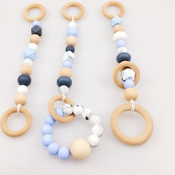 Baby Play Chew Beads DIY Teether Nursing Pendants Baby Toys