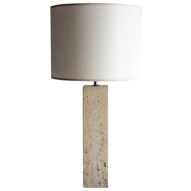 1stdibs Travertine Marble Lamp Modern Italian Table Lamp Marble Lamp Table Lamp