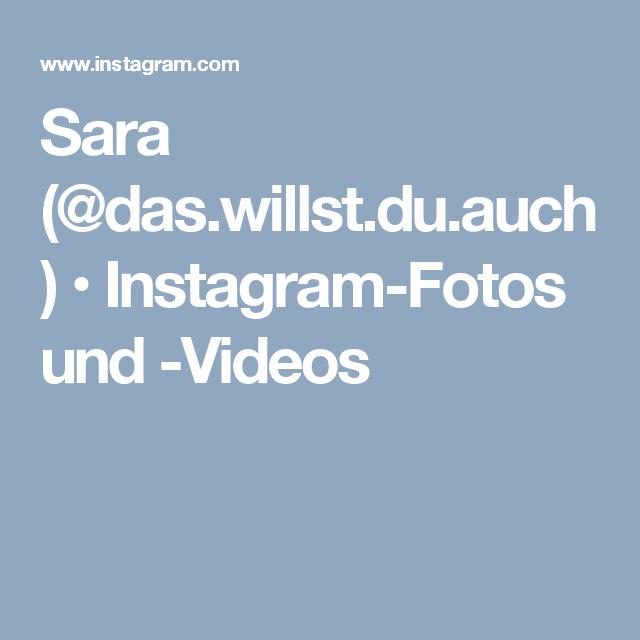 Sara (@das.willst.du.auch) • Instagram-Fotos und -Videos