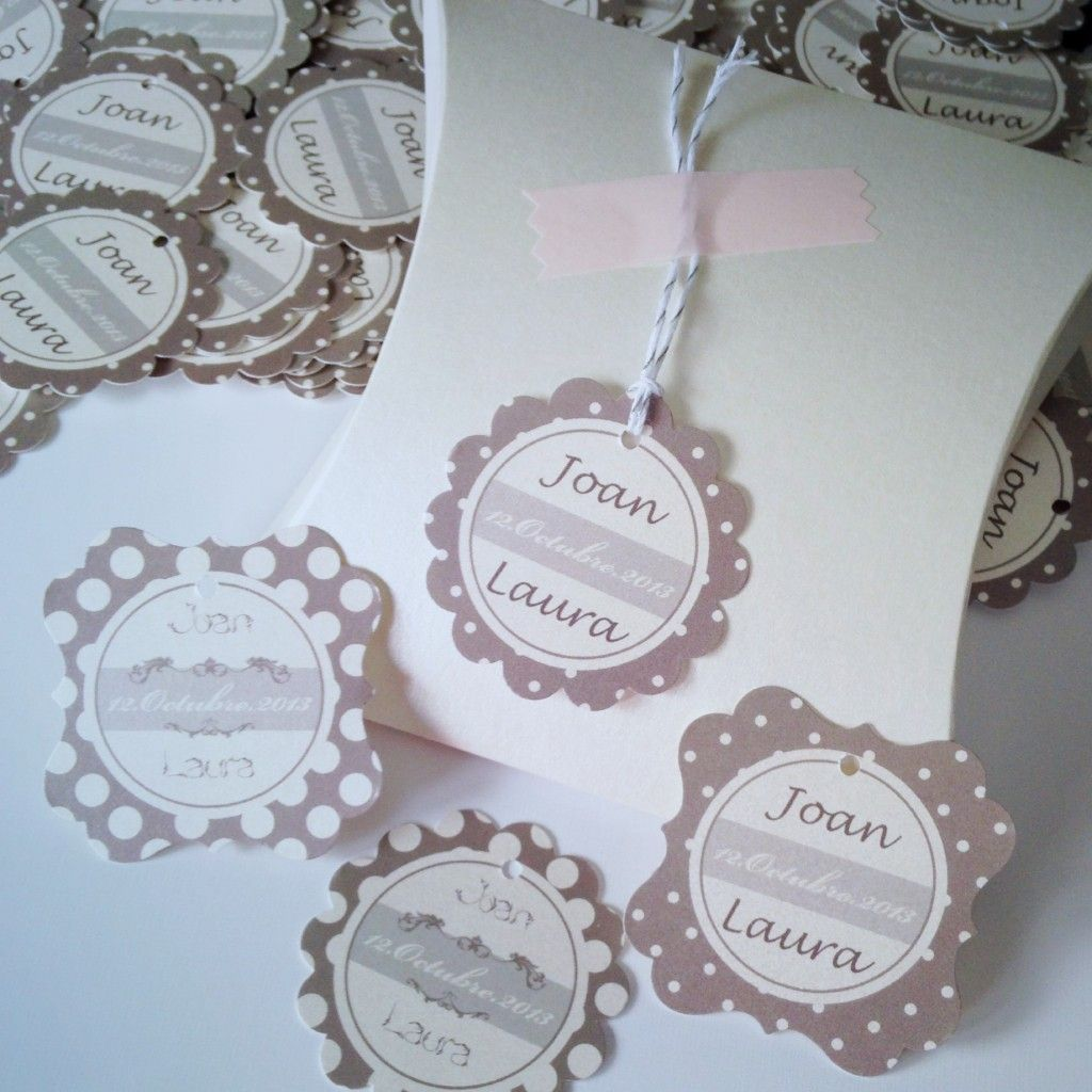 Unas etiquetas para detalles de boda muy elegantes | Boda ...