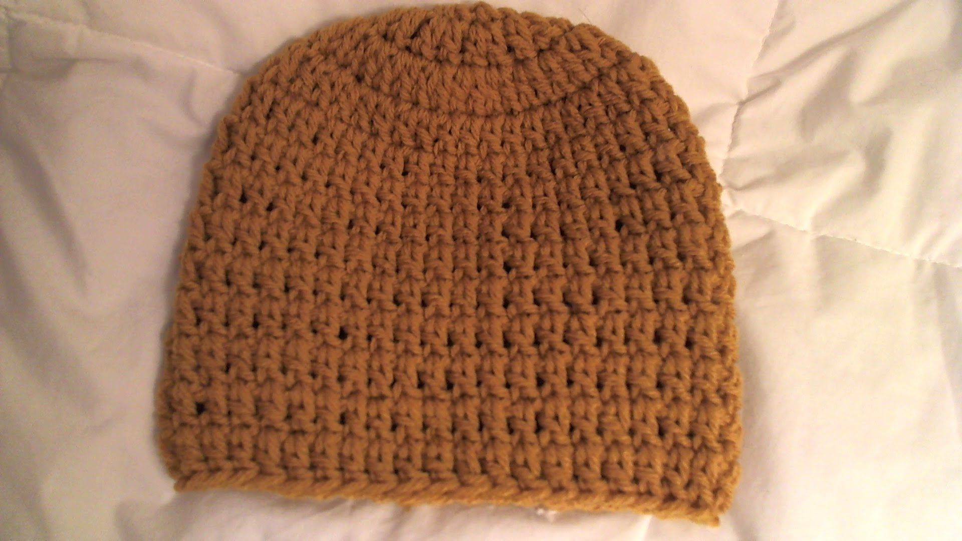 Easy Crochet Baby Beanie - uses only 2 stitches, step by step ...