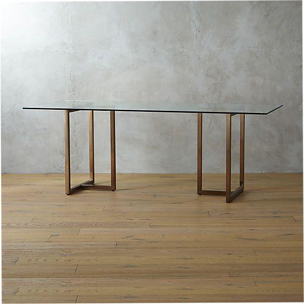 Silverado 80 Brass Sawhorse Dining Table Reviews Chrome
