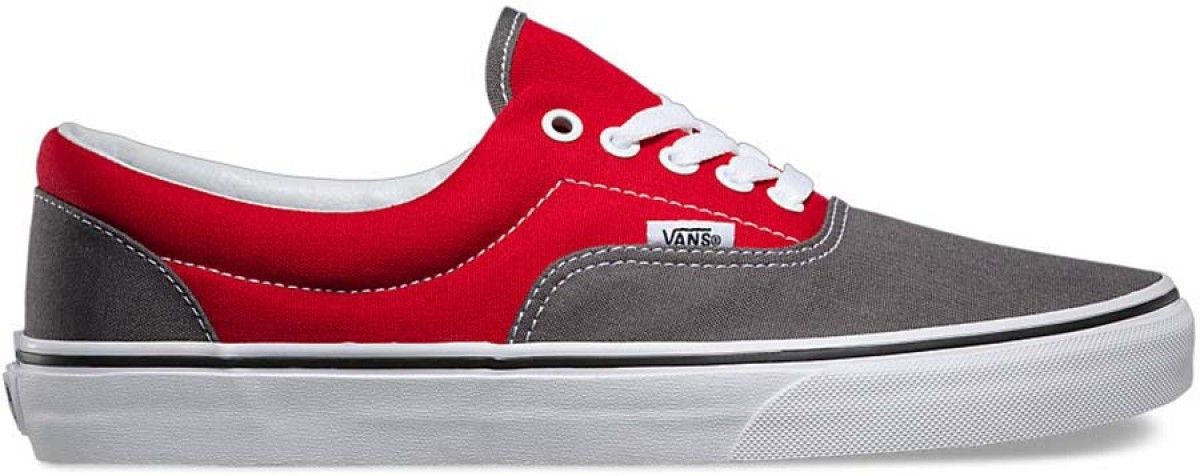 1b8a25bbd22908 Vans Era (2 Tone) Pewter Racing Red