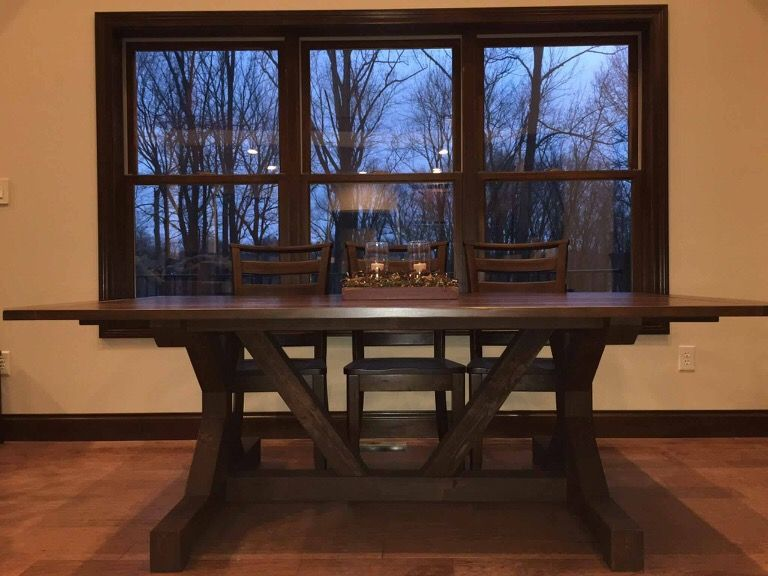 4x4 fountain square x meridian furniture dining table