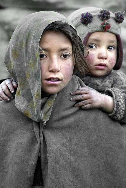 Pakistani children. I can only guess and postulate what they have seen and been through.