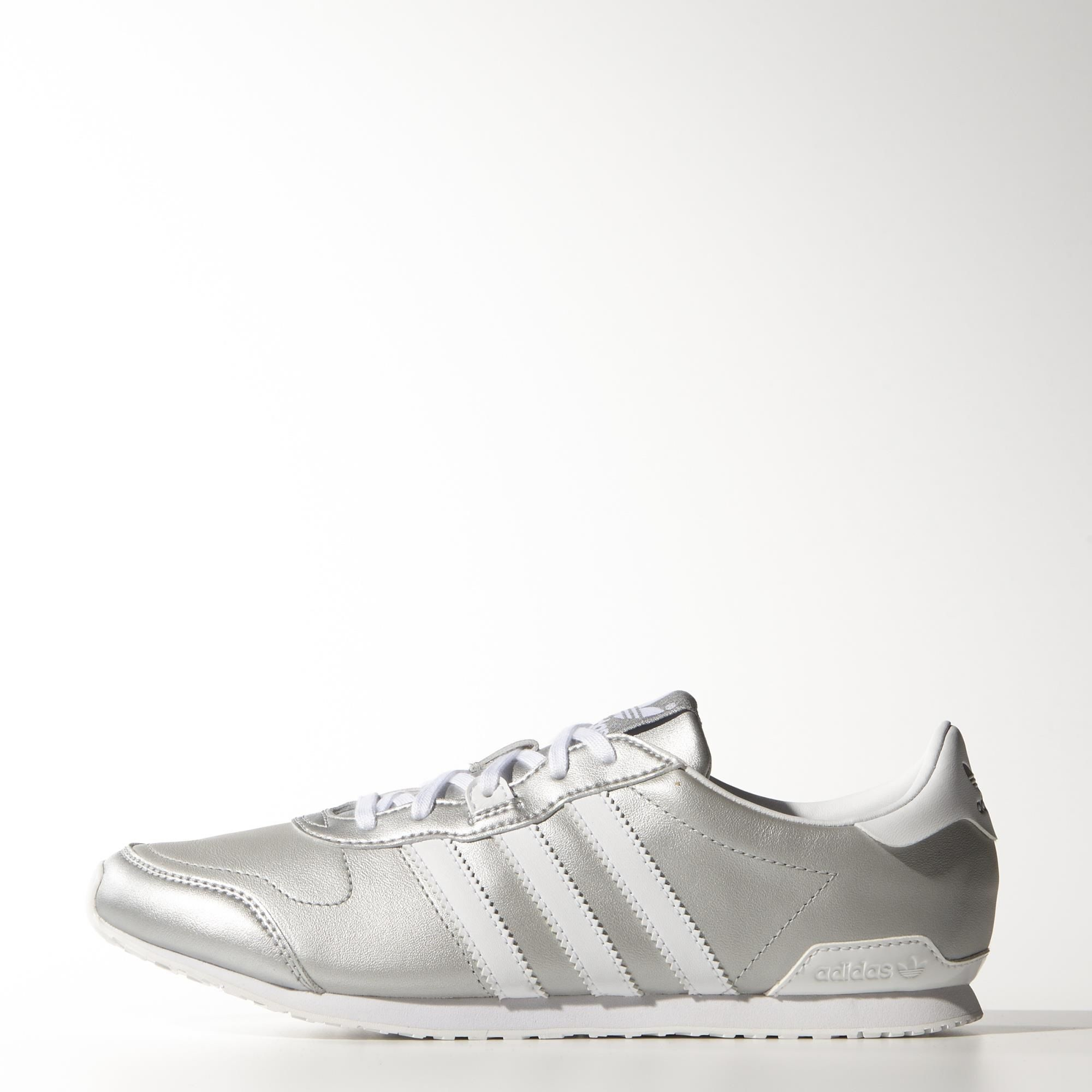 Get your shine on with these classic silver adidas ZX 700