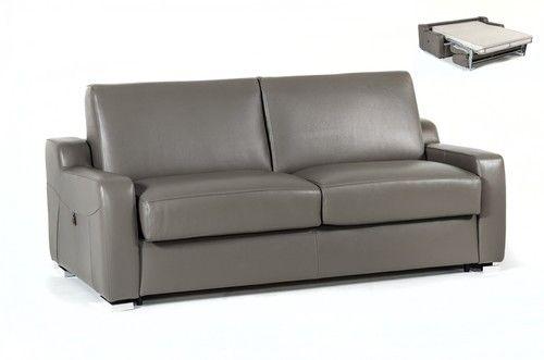 Estro Salotti Dalia Modern Grey Leather Sofa Bed Leather Sofa Bed Modern Grey Sofa Modern Grey Leather Sofa