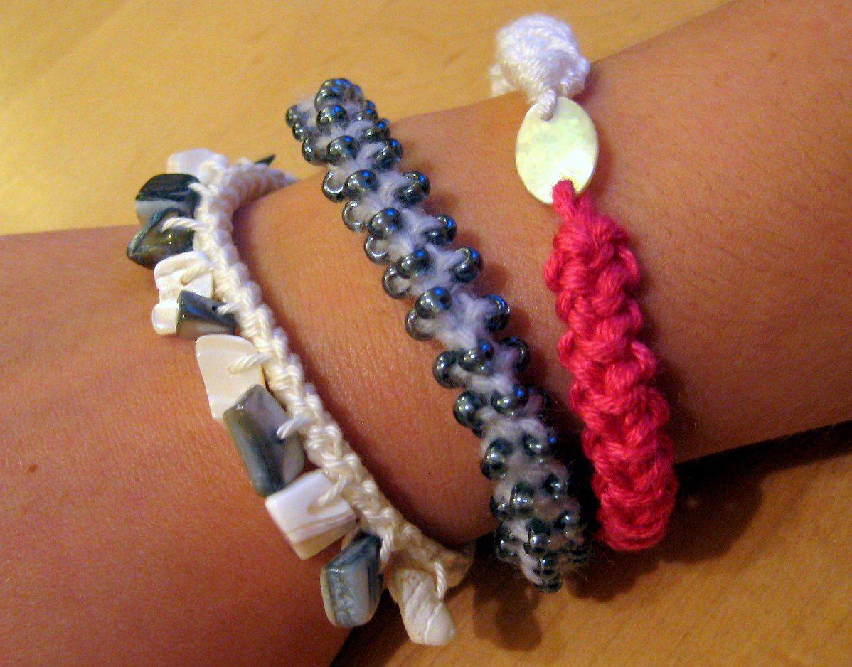 Lobster Cord Bracelets Adventures With Yarn Crochet Crochet