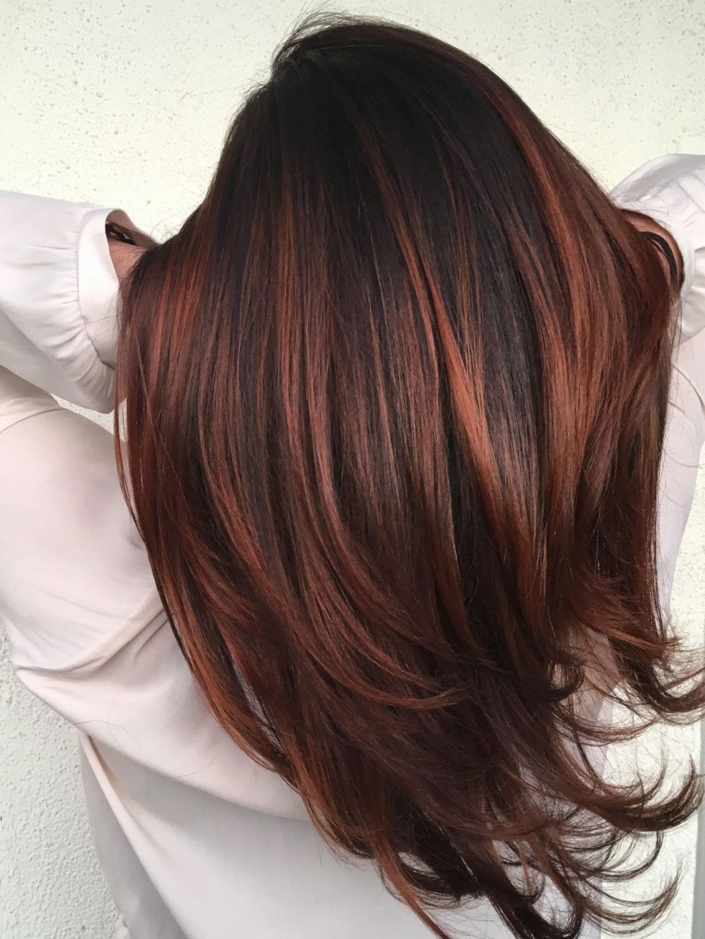 21 Hair Color Ideas for Brunettes with Red #fallhaircolorforbrunettes 21 Hair Co…
