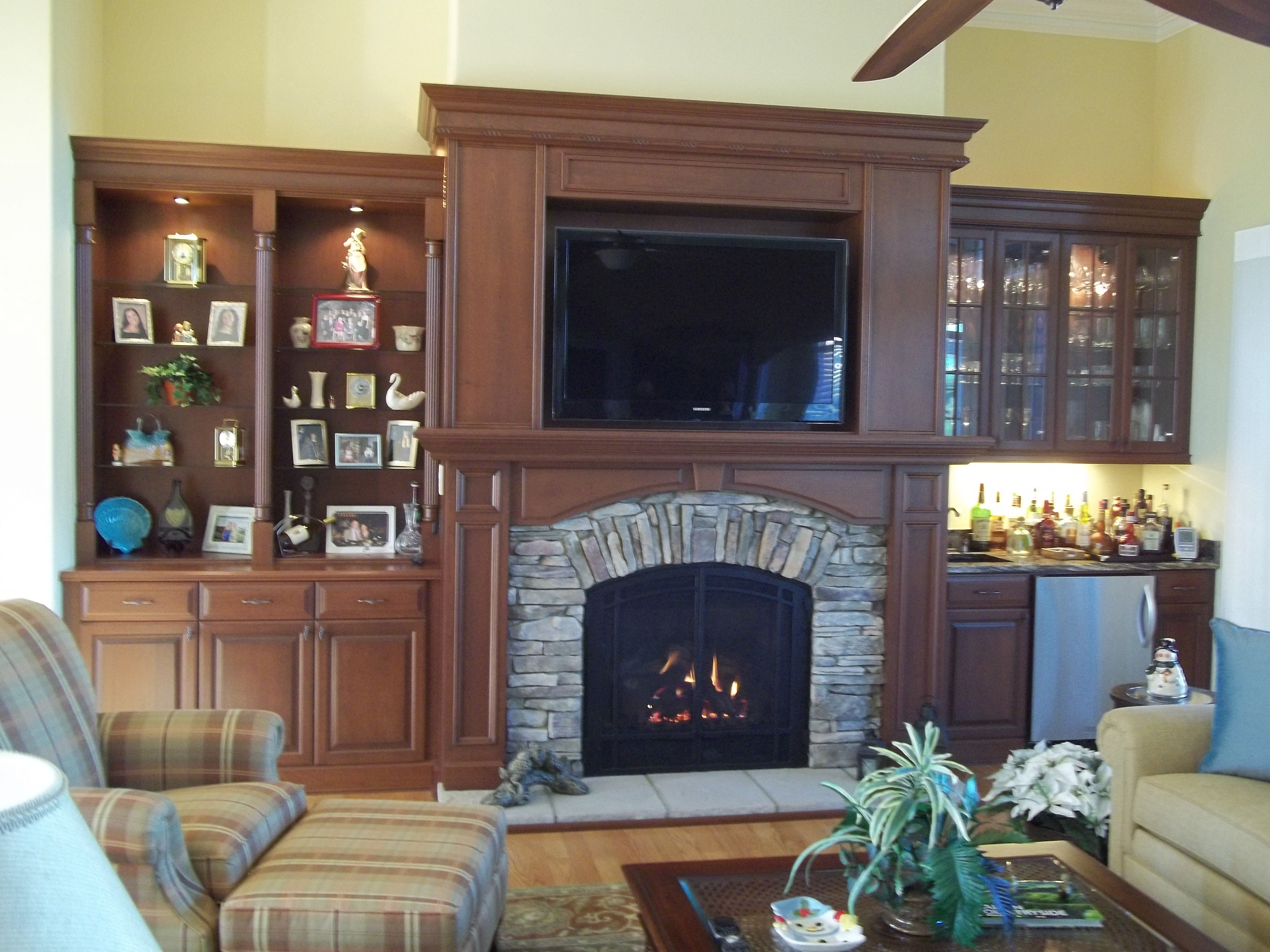 Efficiency of gas fireplace - A Mendota Dxv45 High Efficiency Gas Fireplace With Arched Bentley Doors In A Lovely Entertainment