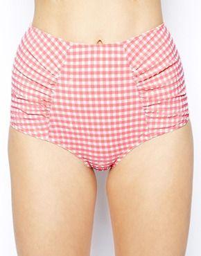 ad0d5664b6 ASOS Seersucker High Waisted Bikini Pant | .style. | High waisted ...