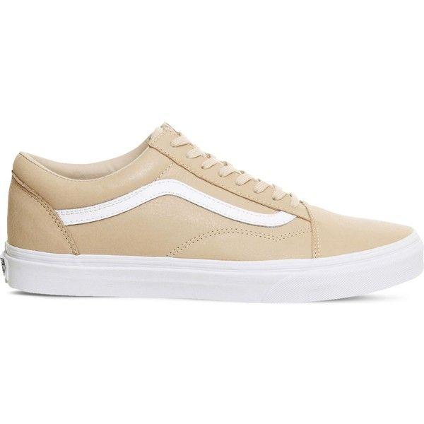 vans old skool low beige