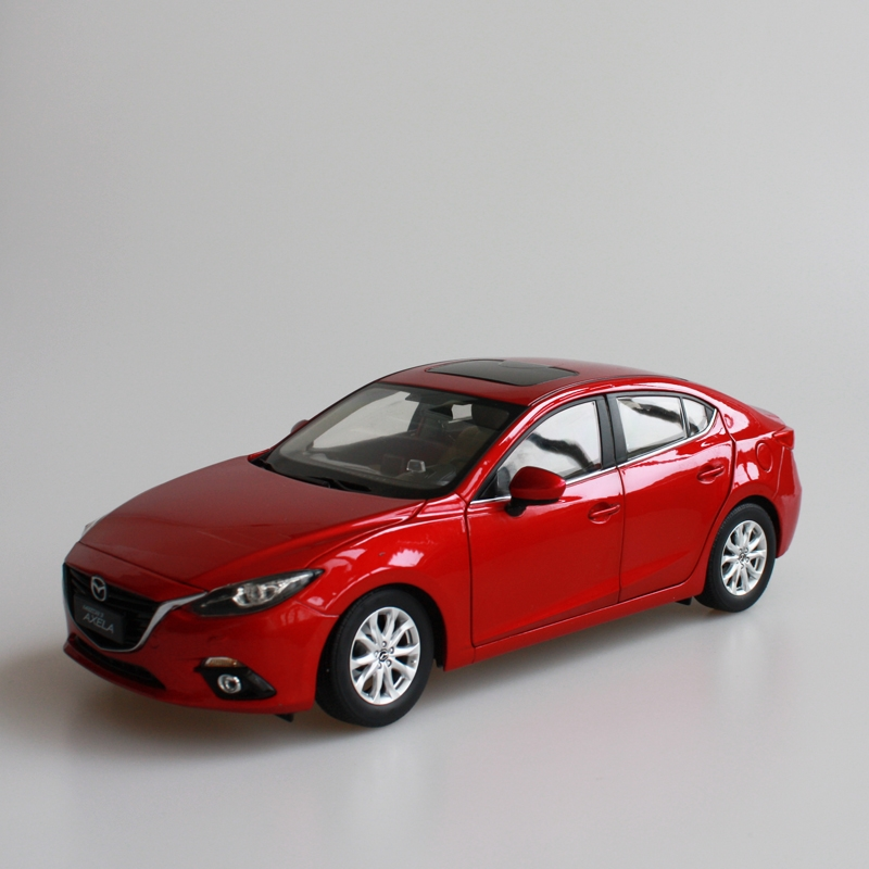 (79.80$)  Buy here - http://aiwub.worlditems.win/all/product.php?id=32258901606 - Red 2014 1/18 MAZDA 3 AXELA Sedan Diecast Model Car Mini Model Car Kits Limitied Edition