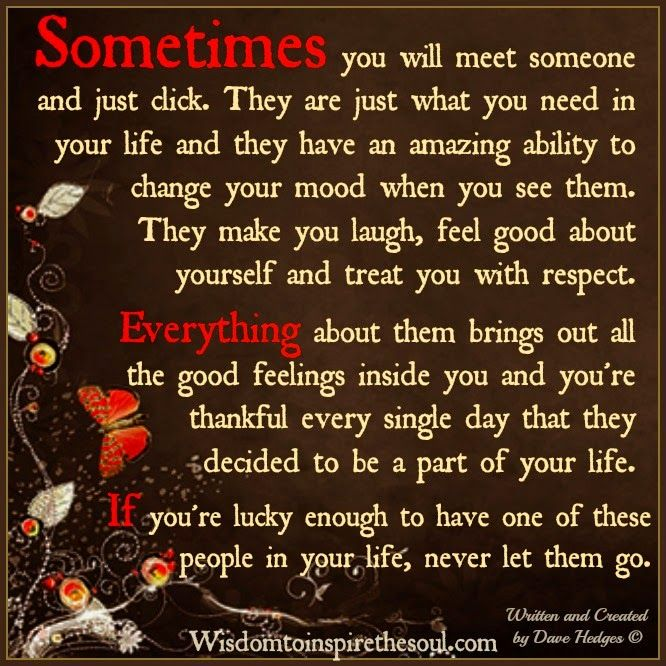 Wisdom To Inspire The Soul Sometimes You Will Meet Someone And Just