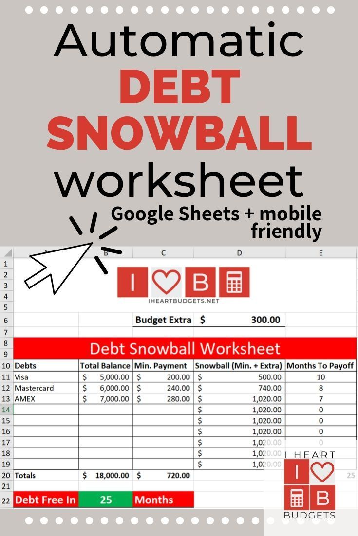 Free Debt Snowball Spreadsheet [+ Video] Debt snowball
