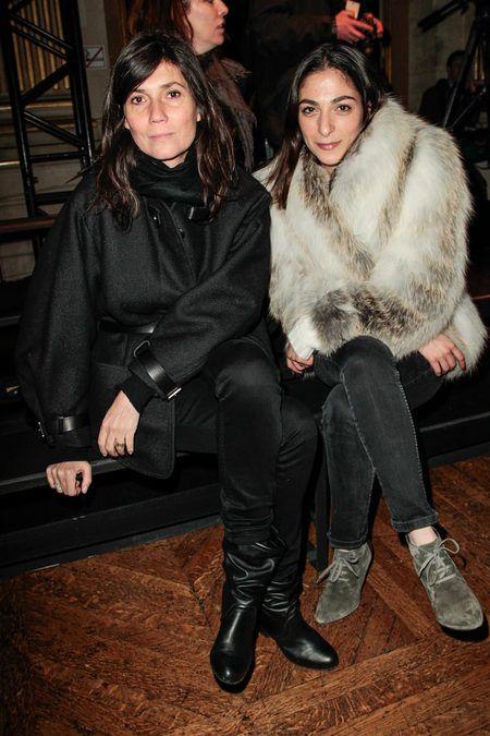 Emmanuelle Alt and Capucine Safyurtlu at Dries Van Noten Fall 2013 RTW Fashion Show- Paris Fashion Week