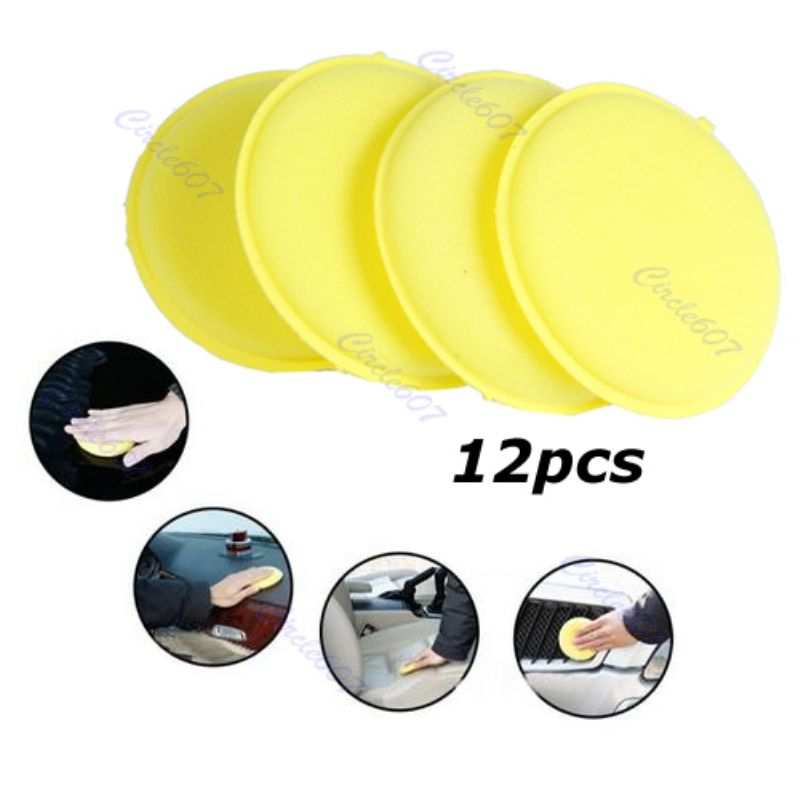 12/PCS Wax Waxing Polish Foam Sponge Applicator Pad Cleaning Car Vehicle Glass by