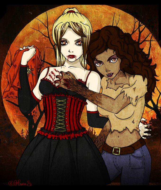 Lesbian Werewolf And Vampire Cute Lesbian Couples Werewolf Vampire