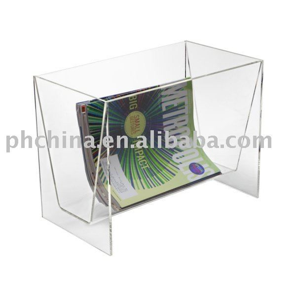 Clear Acrylic Floor Magazine RackClear Acrylic Magazine Holder Cool Clear Plastic Magazine Holders